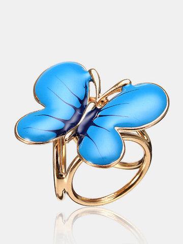 Alloy Enamel Butterfly Shaped Scarf Buckle Brooch