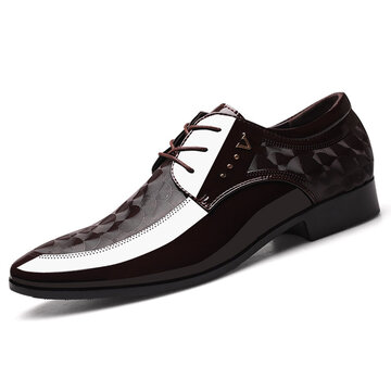 Men Leather Non Slip Business Formal Shoes