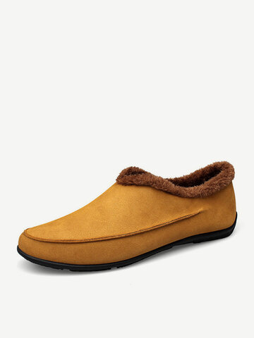 Slippers casuales antideslizantes con forro de peluche para hombres
