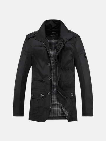 Mens Business Casual Thin Trench Coats фото