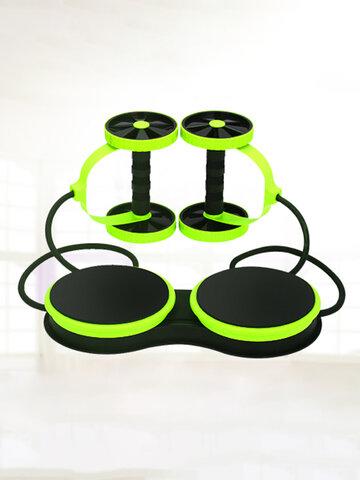 <US Instock> ダブルホイールABローラースポーツコアフィットネス腹筋運動器具