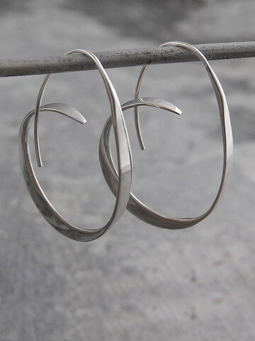 Irregular Flat Line Earrings