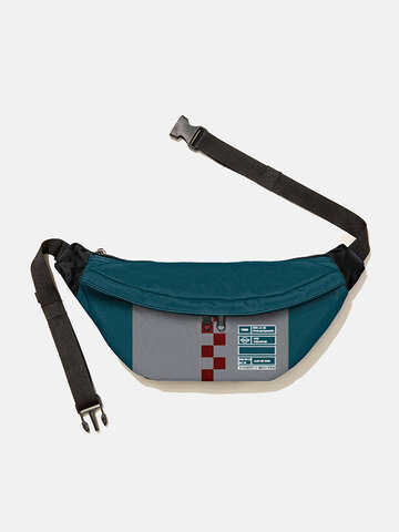 Small Checkerboard Pattern Chest Bag