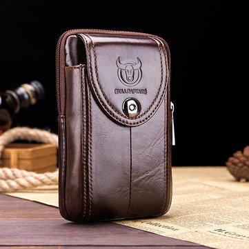 Bullcaptain Genuine Leather 5.5'' 6'' Waist Bag