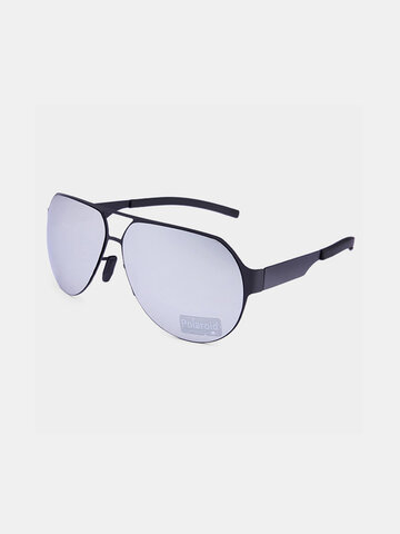 Men Polarized Metal Frame Sunglasses