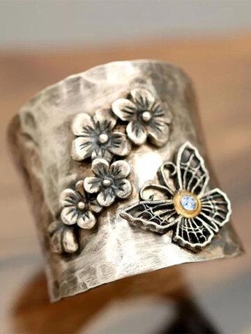 Butterfly Flower Diamond Ring