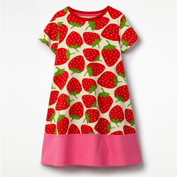 Summer Infant Girls Short Sleeve Dress