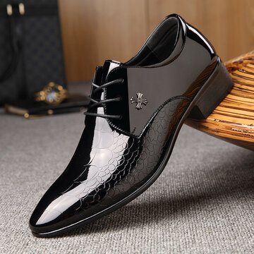Men Business Microfiber Leather Non Slip Formal Shoes