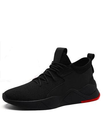 Zapatillas deportivas de tejido de punto transpirable atlético para hombre