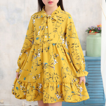 Flower Girls Chiffon Dress For 4Y-15Y