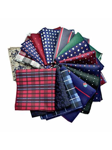 Square Dot Western Style Handkerchief for Men Suit  Paisley Pocket Tie Handkerchiefs