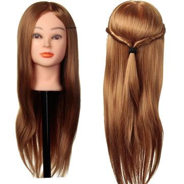 24 Zoll 30% reales langes menschliches Haar-Frisur-Trainings-Kopf-Praxis-Modell mit Klemmplatte