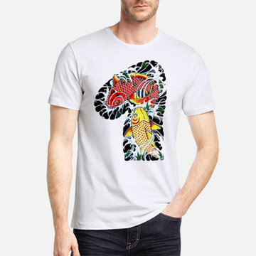 Mens Chinese Style 3D Printed Modal Cotton T-shirts