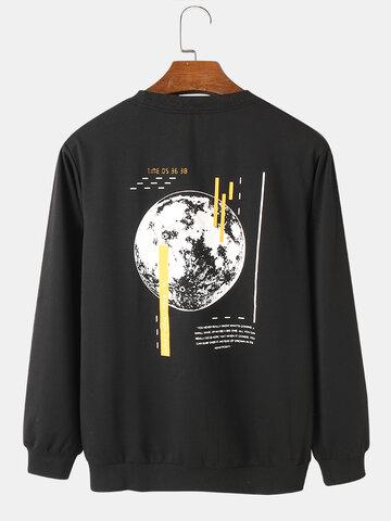 Back Earth Text Graphic Sweatshirts