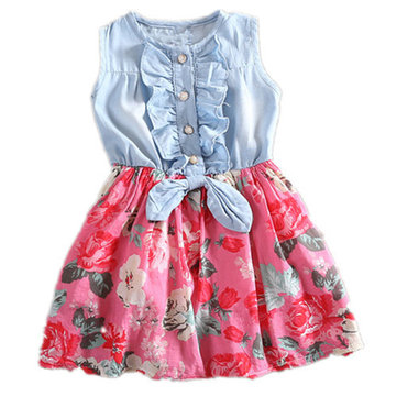 Flower Girls Casual Dress For 2Y-15Y