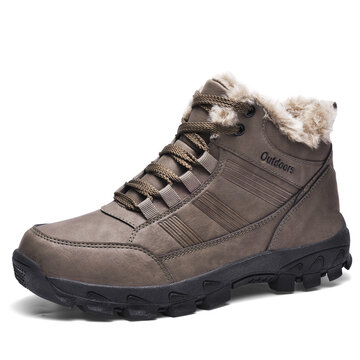 Men Non Slip Waterproof Warm Hiking Boots