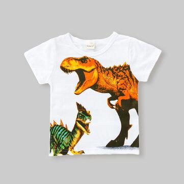 T-shirt casual da dinosauro da ragazzo per 1-8 anni