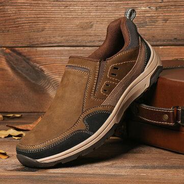 Menico Men Slip On Non Slip Leather Shoes