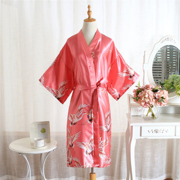 Exclusive For Ladies Wedding Gowns Sister Group Bridesmaid Dressing Gown Bride Makeup Gown Simulation Silk Season Home