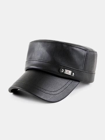 الخريف والشتاء قبعة عسكرية بسيطة قبعة مسطحة