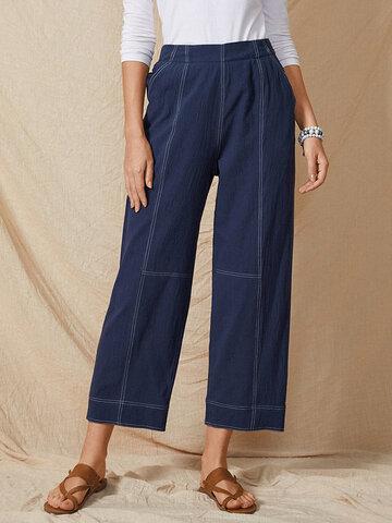 Cintura elástica Casual suelto Pantalones