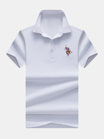 Einfarbiges Business Casual Golf Shirt