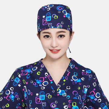 Doctor Short Hair Scrub Cap Small Tie Beautician Cap