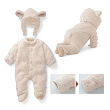 Bear Thick Warm Baby Jumpsuit For 0-18M