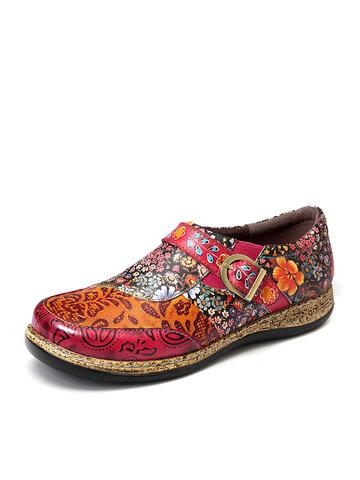 Fancy Flowers Zipper Shoes
