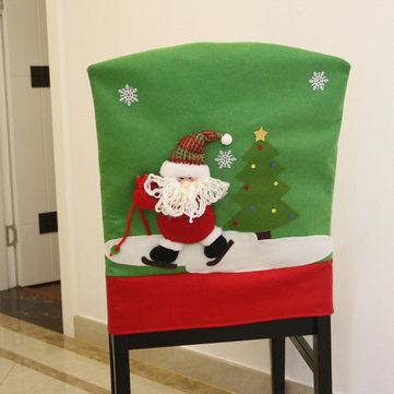 Dinner Table Santa Snowman  Chair Covers