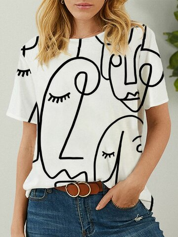 Abstract Modello T-Shirt a maniche corte