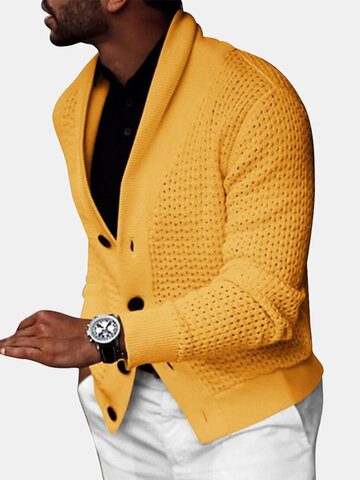 Rib-Knit Hollow Out Cardigans
