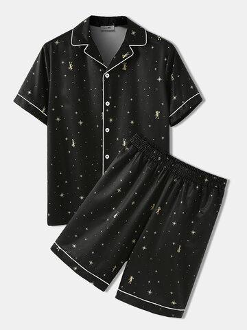 Star Pattern Cozy Sleepwear Set