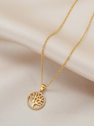 Hollow Tree Of Life Necklace