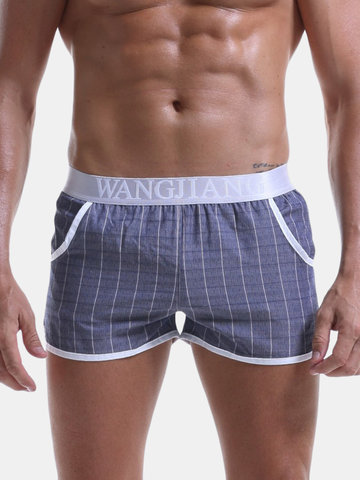 100%Cotton Liner Pouch Boxer Trunks