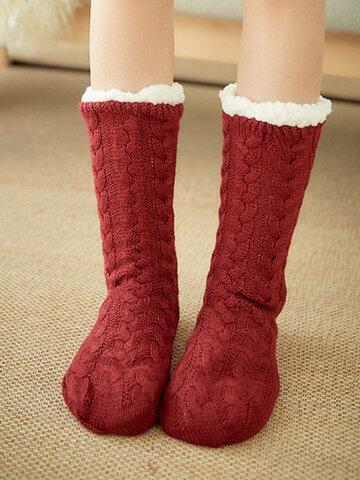 Femmes Accueil Tapis Chaussette Plus Velours Comfy Floor Sock