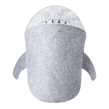 Kids Cartoon Folding Felt Shark Laundry Hamper