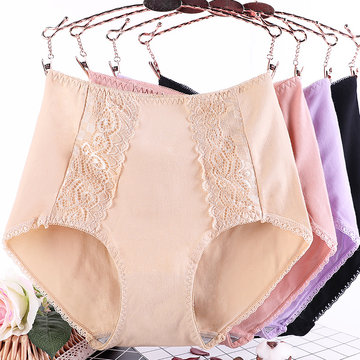6XL Plus Size Cotton Lace Panties