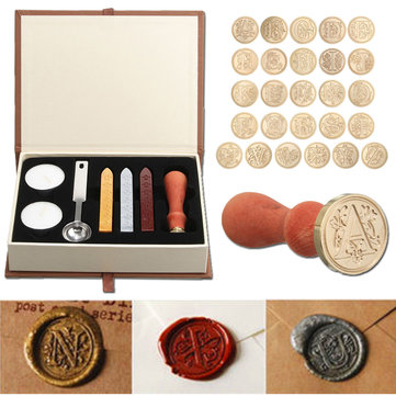Classic A-Z Alphabet Sealing Stick Seal Copper Letter Wax St