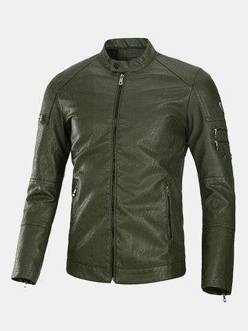 Байкер мотоцикл PU кожаные куртки
