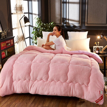 Thicken Shearling Blanket Winter Soft Warm Bed Quilt