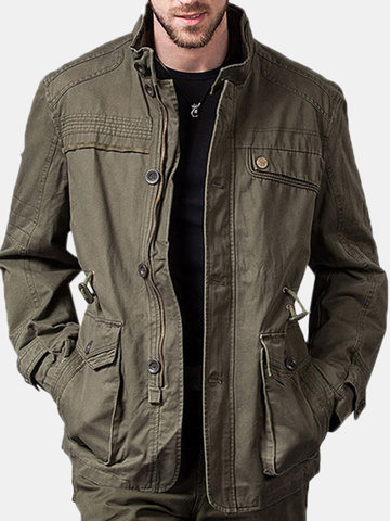 Stand Collar Military Jacket