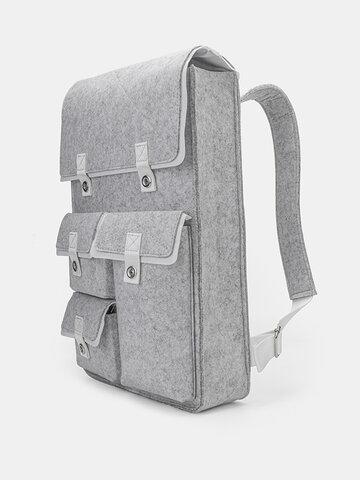 Felt Fabric Lightweight Backpack