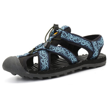 Men Drainable Sole Outdoor Closed Toe Water Sandals