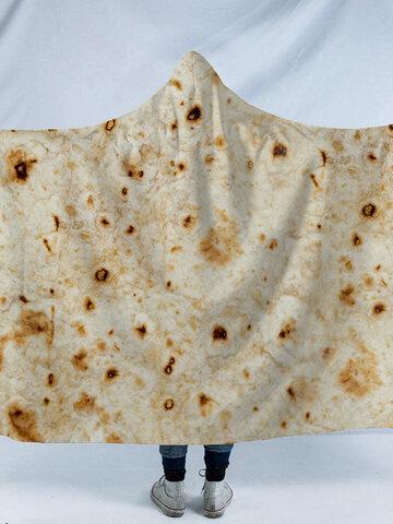 3D Mexican Burritos Taco Wearable Blanket