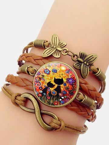 Multilayer Black Cat Bracelet