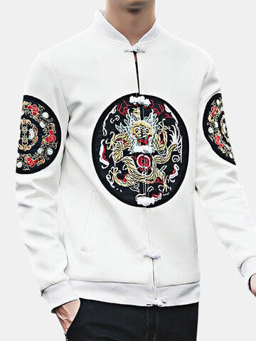 Chinese Style Embroidery Long Sleeve Coat