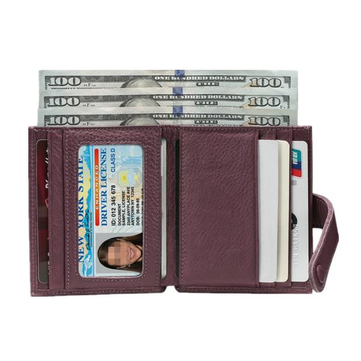 Genuine Leather Coin Pocket 7 Card Holders Wallets