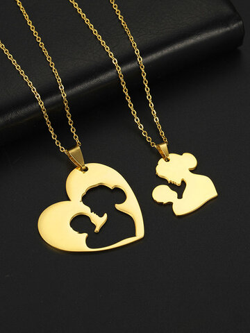 Stainless Steel Heart-shaped Necklace