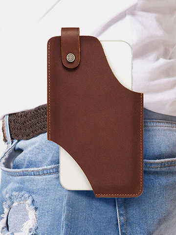 Crazy Horse Leather 6.5 Inch Phone Bag
